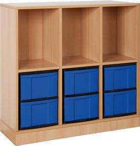 Ergo kast blauw 3x2